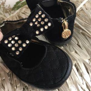 Stuart Weitzman Black baby dress shoe